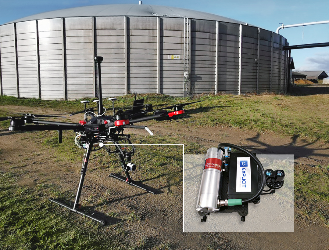 The use of drones in CH4 emissions monitoring