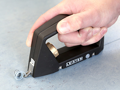 Leister GROOVY gouging tool in action
