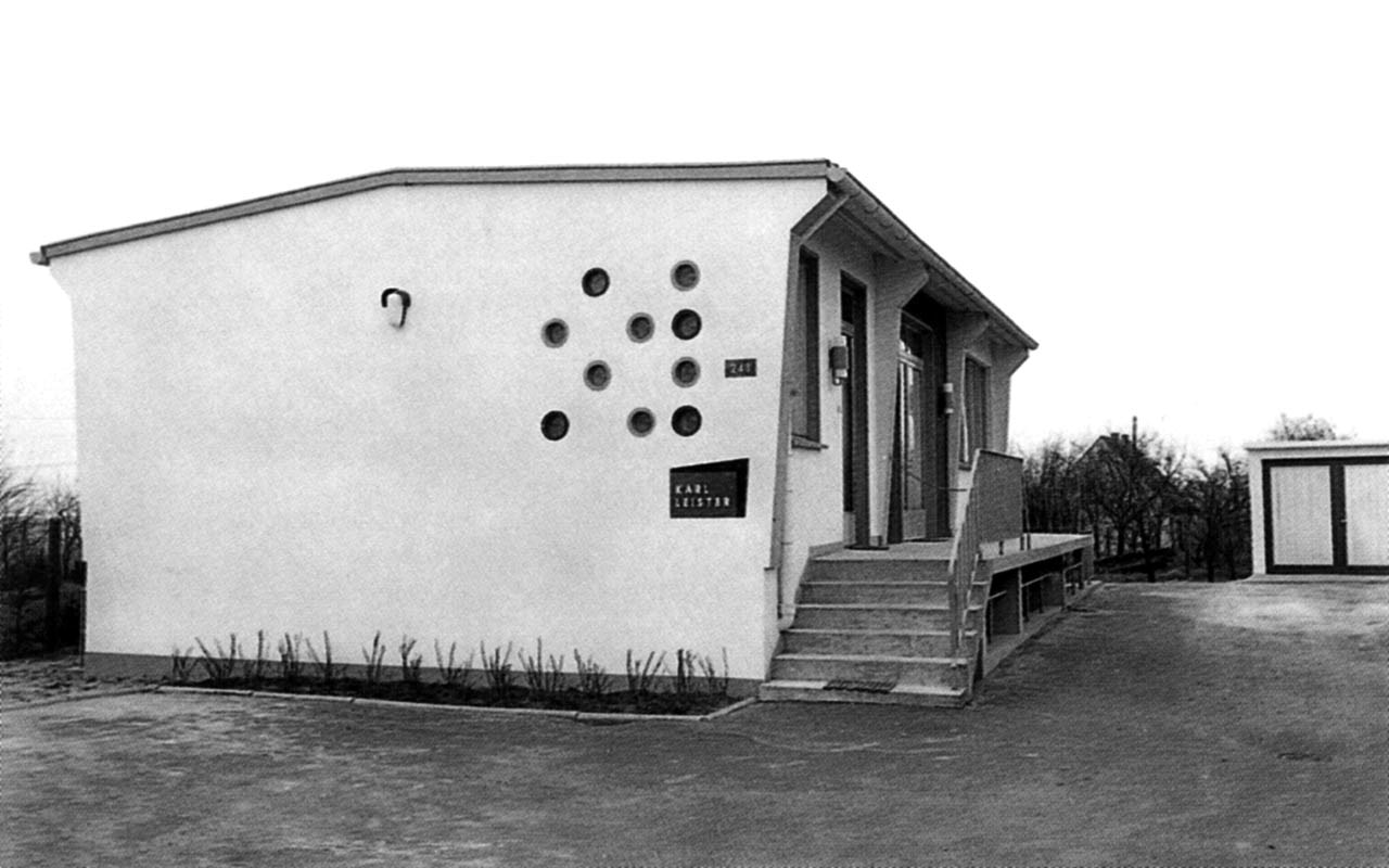 Leister History - the first production building in Solingen, Germany, 1954
