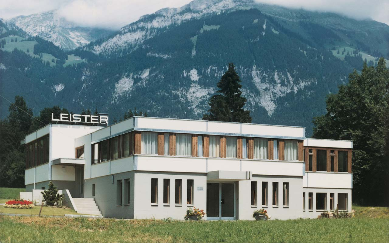 Leister History - Leister production building in Kaegiswil, Obwalden (1966)