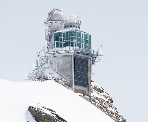 Axetris Climate change research at the Jungfraujoch - Top of Europe - Research Station