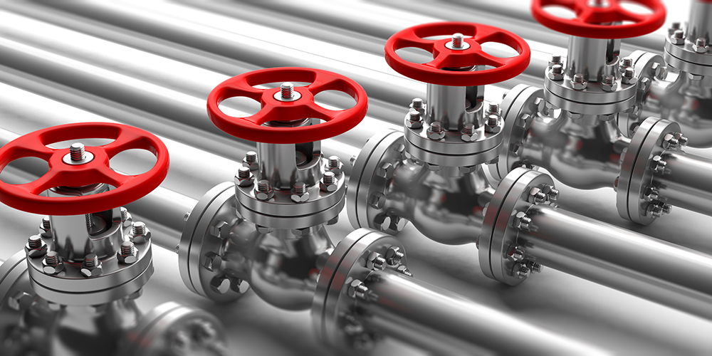 Valves for leak testing with mass flow meters