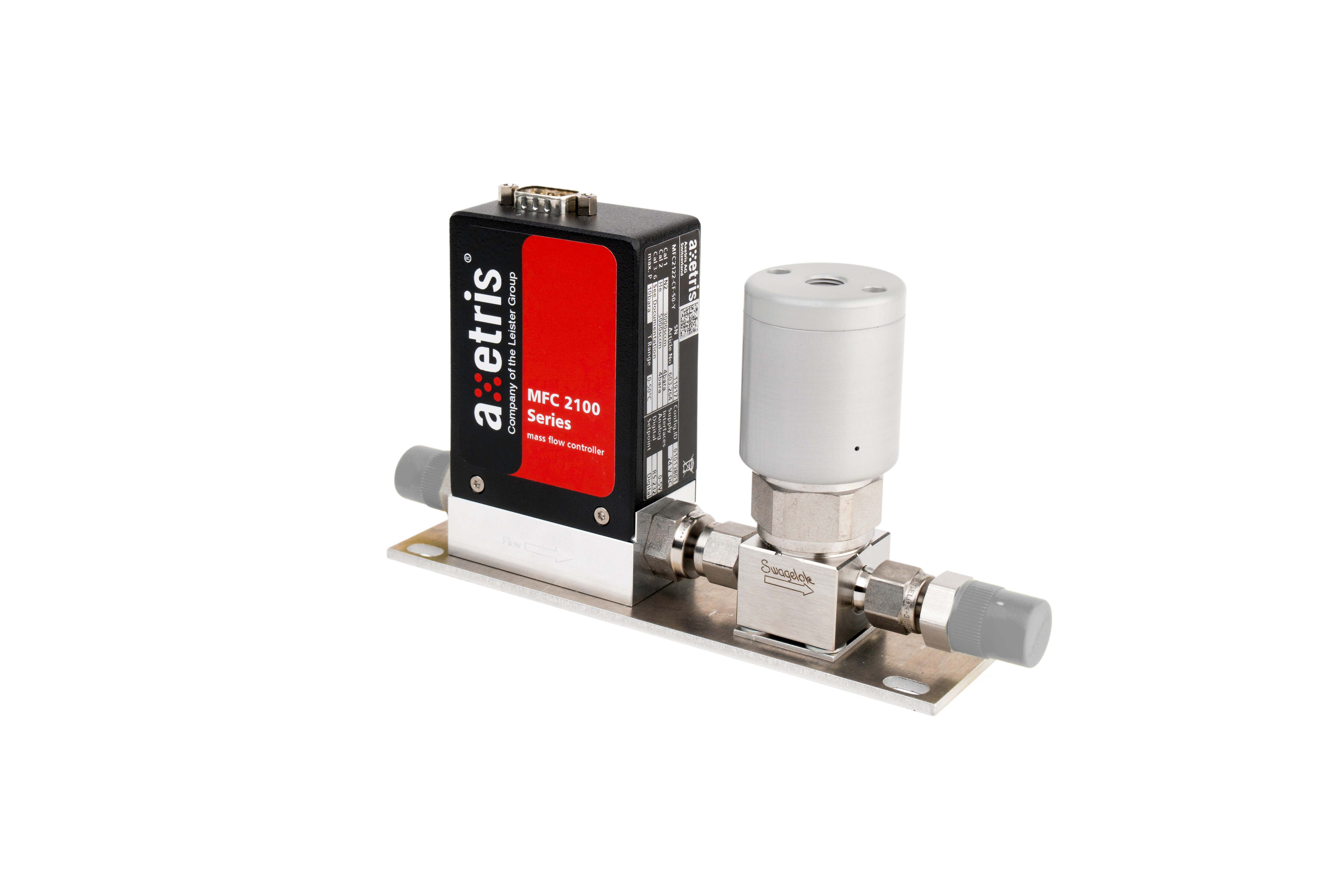 MFC 2100 Series with integrated shut-off valve