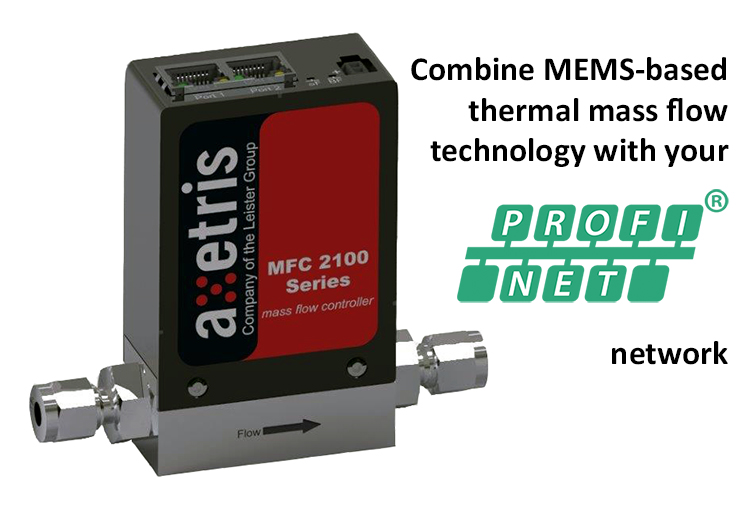 Combine mass flow technology with Profinet