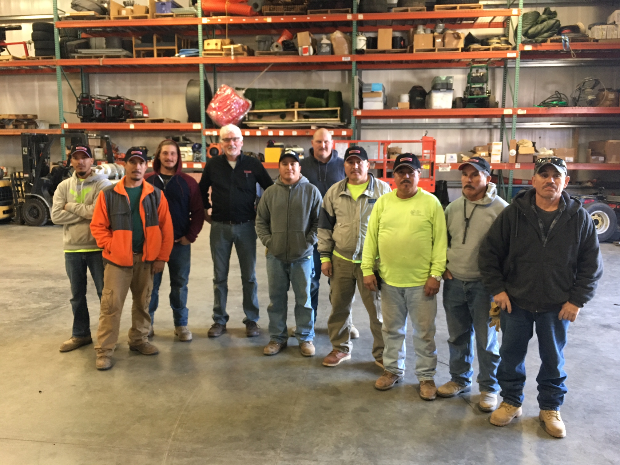 Pictured here: Steve Hobbs of Leister (4th from left), with New England Liner CWT candidates.
